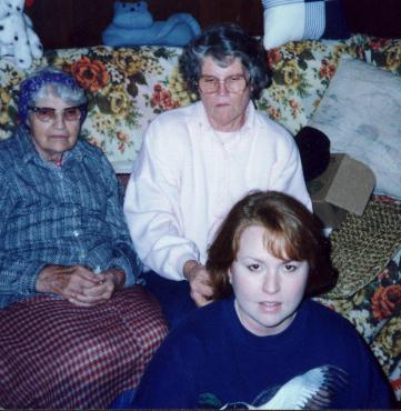 Mom and Grandma McCoy Christmas 1995