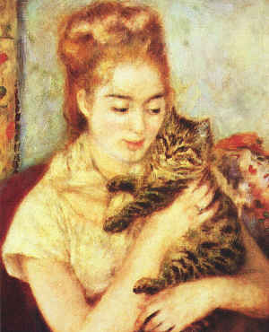 Renoir Woman With Cat
